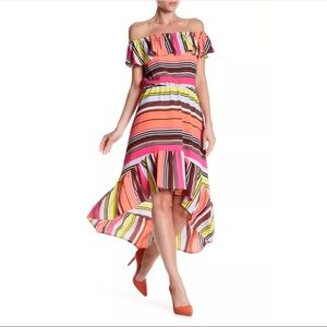 NWT Charles Henry Ruffle Off the Shoulder Dress